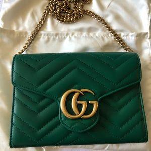 💚Beautiful Leather Gucci Forest Green Crosbody💚